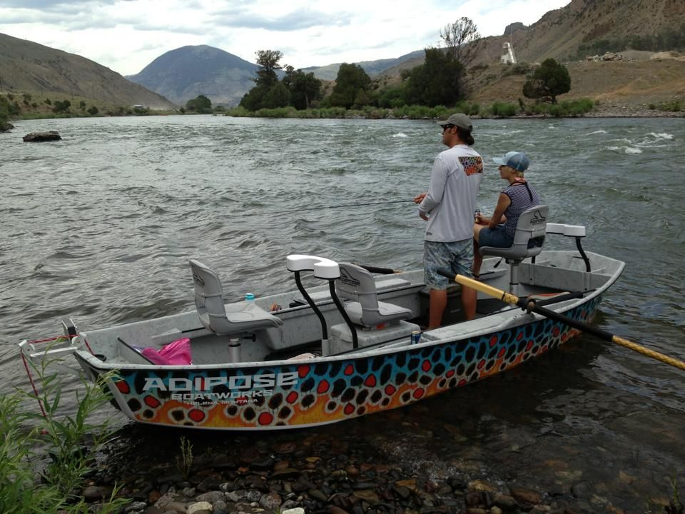 Deyoung brown trout flank wrap on adipose boat www for Fly fishing boats