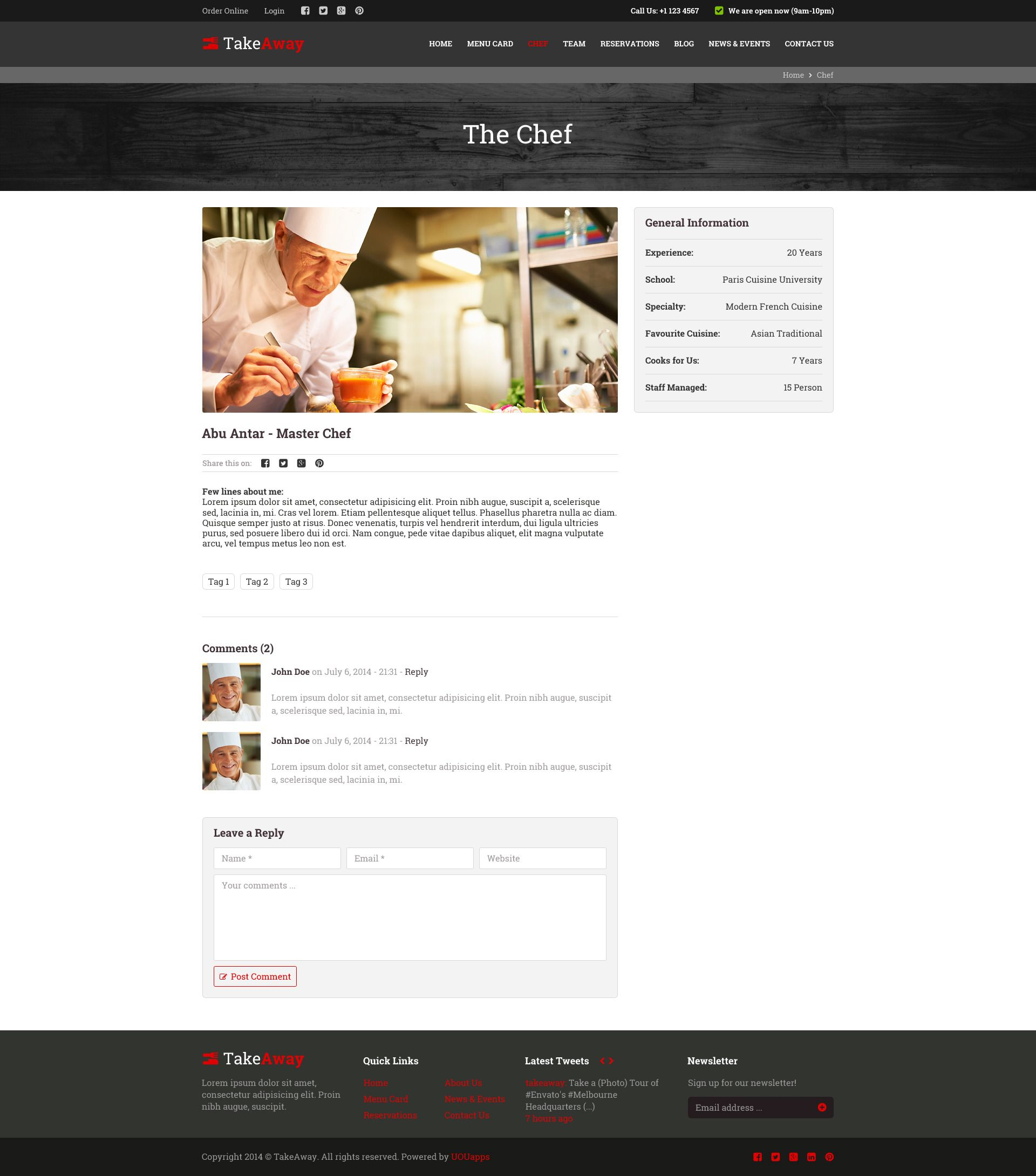 TakeAway Online Food Ordering (PSD) Online food, Order