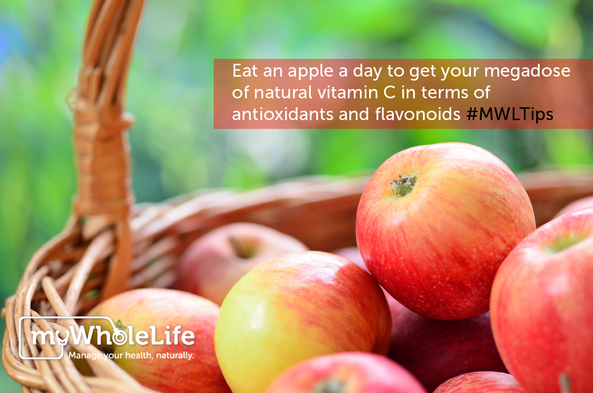 #Apples supply dozen of #phytochemicals, including the antiallergy #flavonoid #quercetin, and more potassium than fresh oranges. The souble fibre called pectin in apples helps the body's hormone disposal system work more efficiently, stabilizing blood pressure, and strengthens the #immune system. ‪#‎MWLtips‬. Visit a local orchard to pick your own and opt for organic.