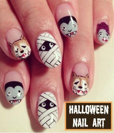 halloween nail art ideas by marksbeast3113