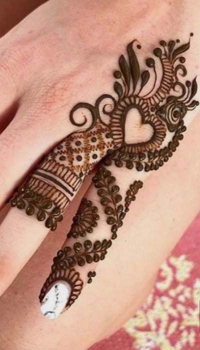attractive and glamorous look of 2019 mehndi trend | henna ...