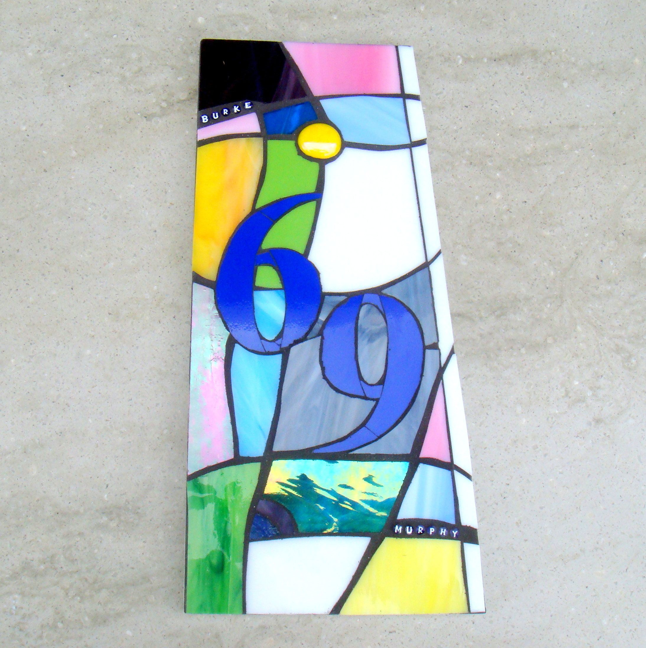 Stained Glass House Number Custom House Plaque Bespoke Door Plate