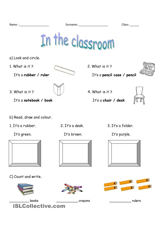 In The Classroom Classroom Vocabulary English Vocabulary [ 1440 x 1018 Pixel ]