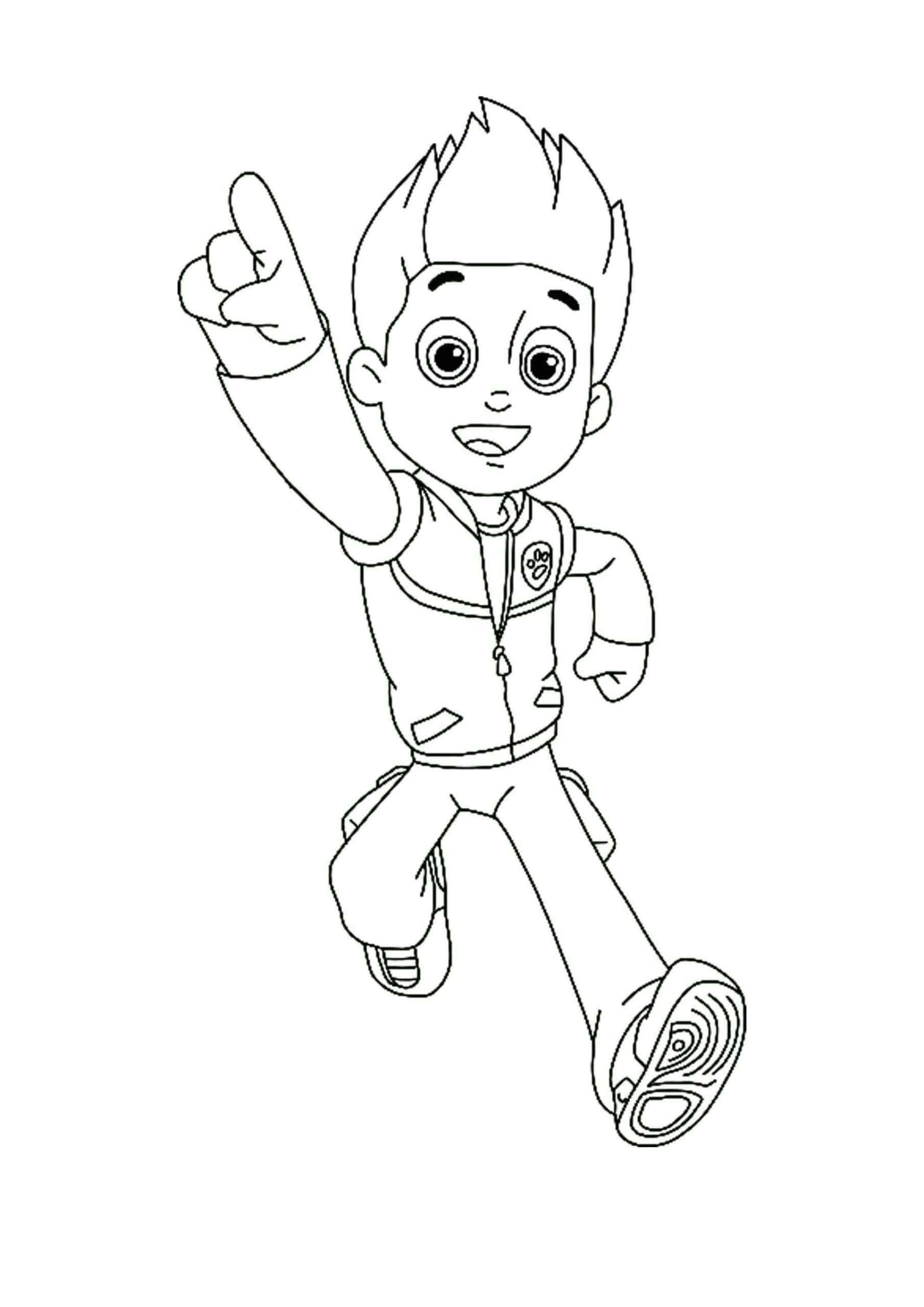 Paw Patrol Ryder Coloring Pages  Paw patrol coloring pages, Ryder