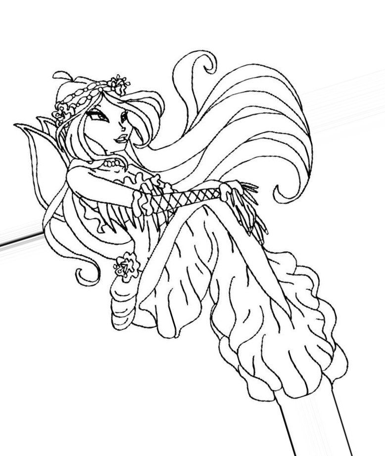 Winx Mermaid Coloring Pages Winx Mermaid Coloring Pages