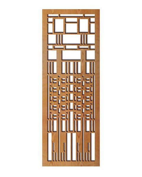 Frank Lloyd Wright Dana Window Wood Art Screen Wall Panel Cherry Wood Art Frank Lloyd Wright Stained Glass Wall Paneling