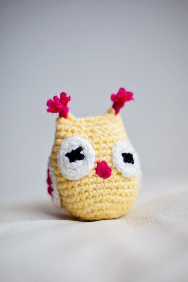 Little amigurumi crochet owl