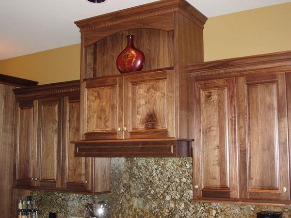 Hidden exhaust vent above stove | Custom built kitchen ...