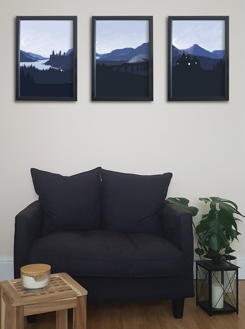 Set Of 3 Harry Potter Print Collection Wall Print Bedroom Print Poster Home Decor Digital Print Fan Art Harry Potter Fantasy Art Bedroom Prints Harry Potter Print Wall Prints