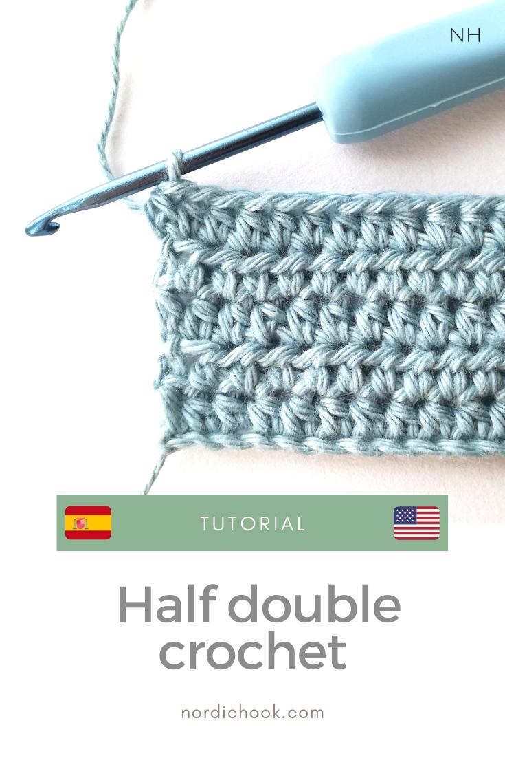 Crochet Tutorial Half Double Crochet In 2020 Double Crochet Half Double Crochet Stitch Crochet Tutorial