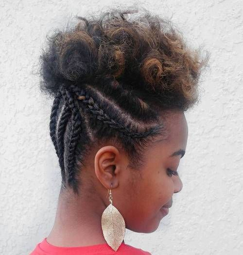 Half Braided Updo For Short Natural Hair Natural Hair Styles Hair Styles Short Natural Hair Styles