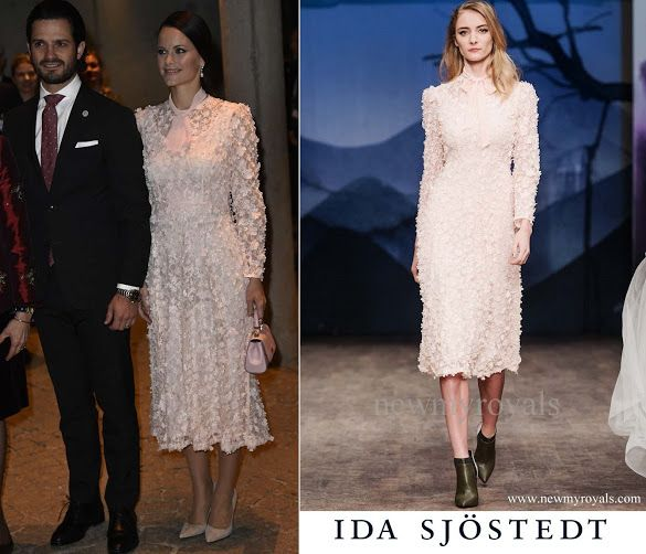 Princess Sofia wears IDA SJOSTEDT dress- Fall Winter 2017 newmyroyals.com