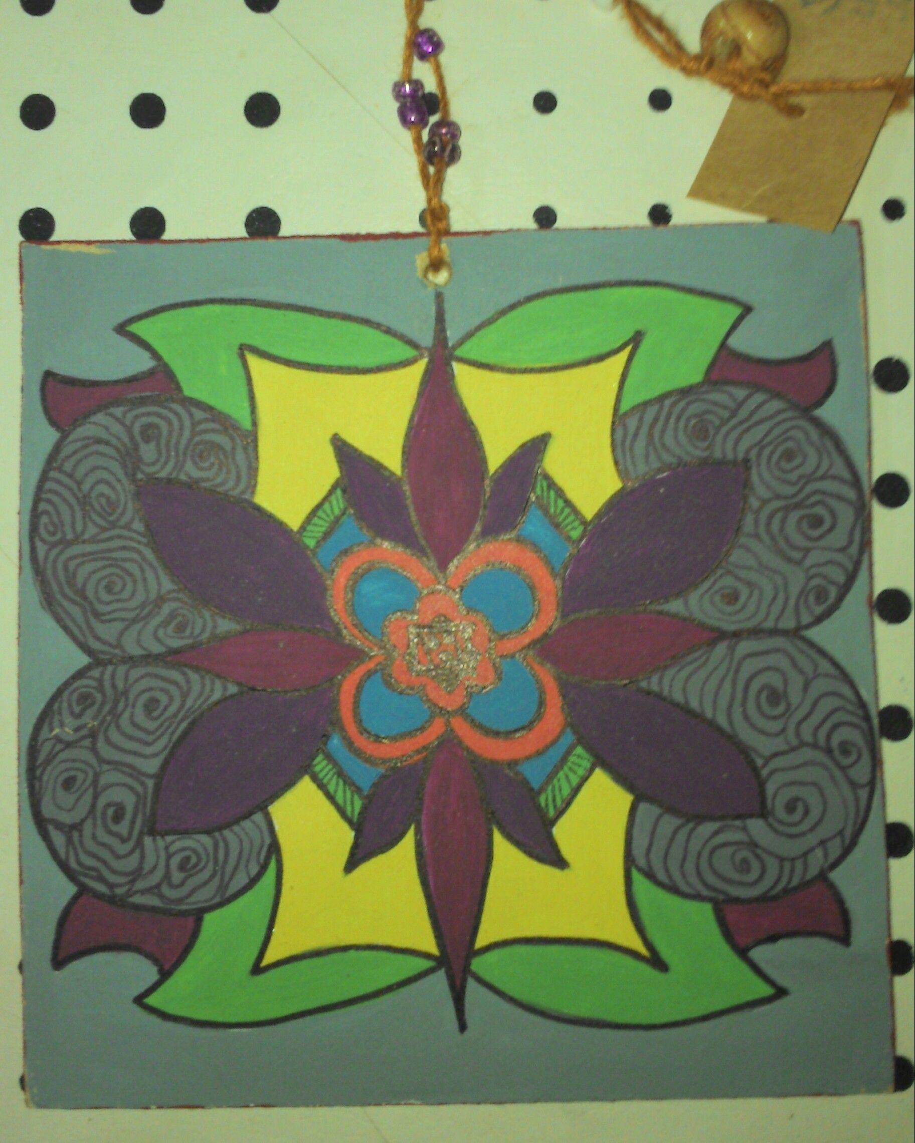 cuadro para decorar ambientes tcnica acrlico zentangle