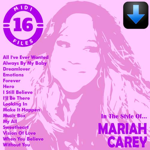 Mariah Carey Pack 16 Midi File Descarga Inmediata Mariah Carey Canciones Believe