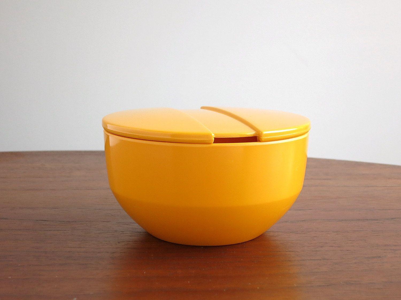 Sugar bowls with lids - Rosti Denmark Melamine Sugar Bowl With Lid Soren Andersen Design Mod Yellow Mepal Melamine Sugar Bowl Danish Modern Sugar Bowl