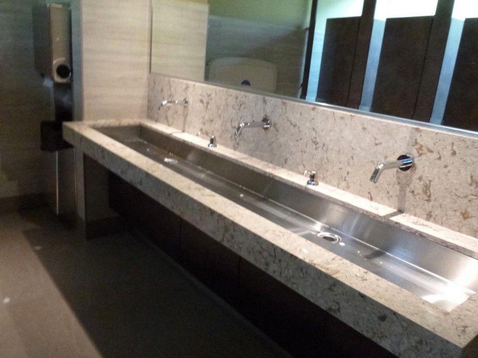 Corporate Restroom Design As Large Bathroom Mirror