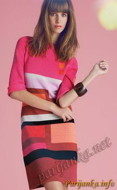 Платье (ж) 06*70 Phildar №2606
