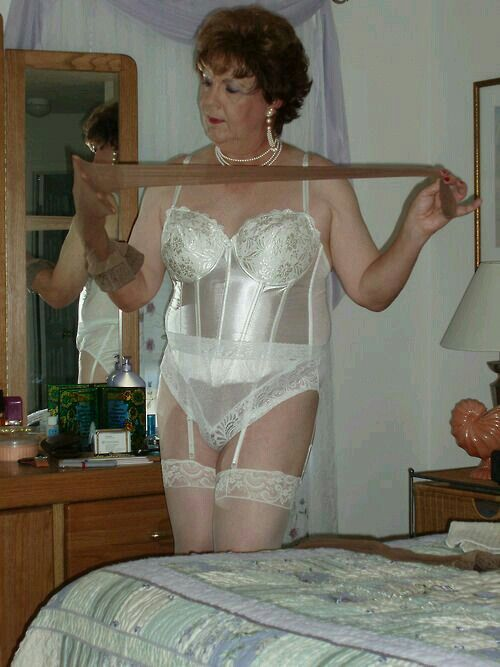 sheer women horny see Lingerie through mature