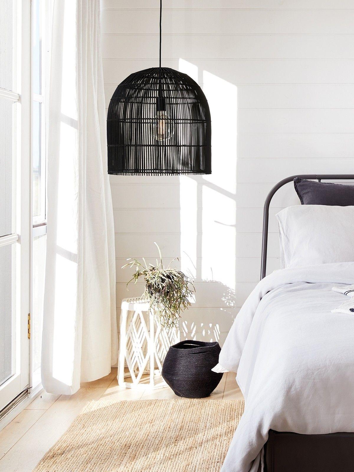 Herman 1 Light 350mm Tall Pendant In Black Classic Bedroom Adjustable Pendant Light Bedroom Lighting