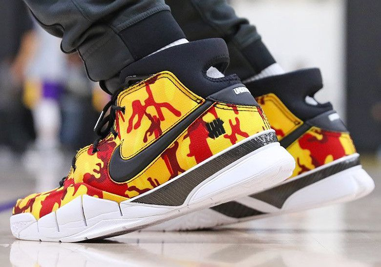 e72424fbf35d Isaiah Thomas Nike Zoom Kobe 1 Protro Yellow Camo  thatdope  sneakers   luxury  dope  fashion  trending