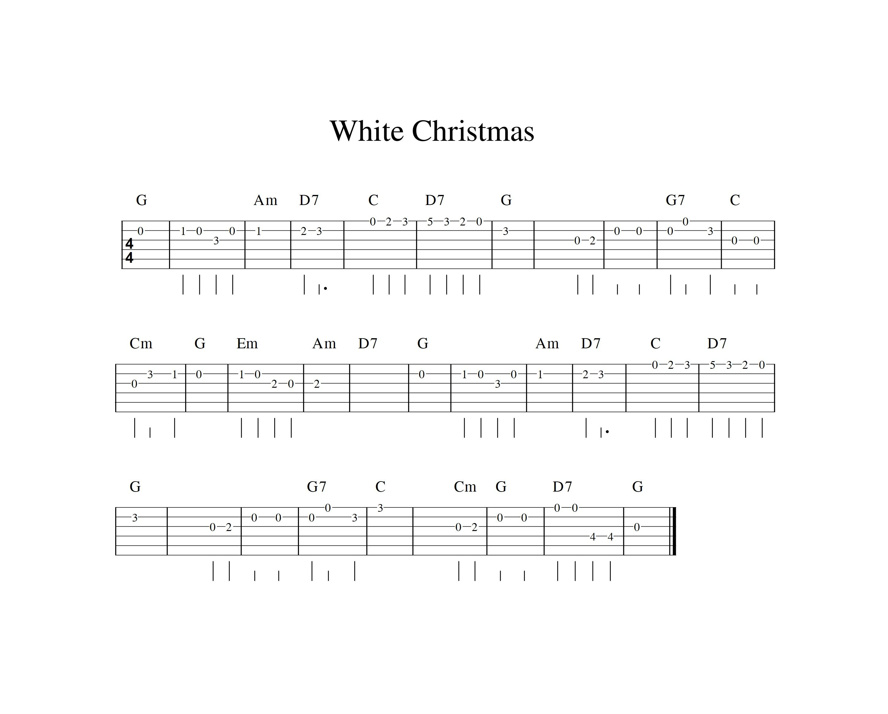 White Christmas Easy Guitar Tab Guitar Tabs Songs Guitar Chords For Songs Guitar Tabs