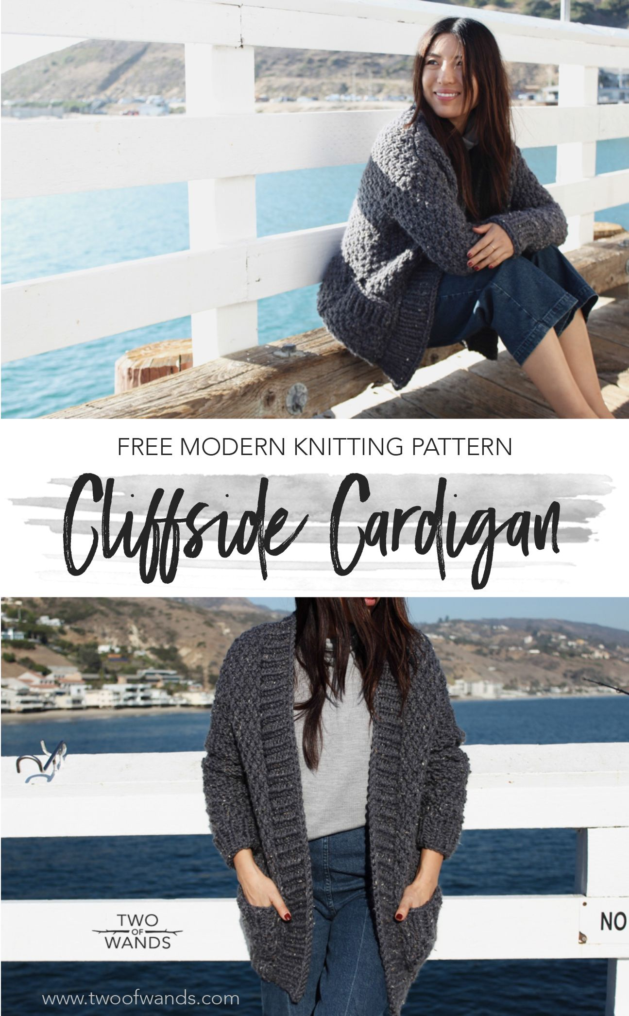 436dac626 Cliffside Cardigan Pattern by Two of Wands