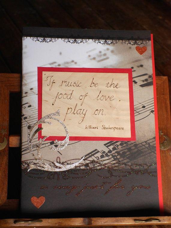 Music Themed Journal Handmade Wedding Guest Book Diary Notebook