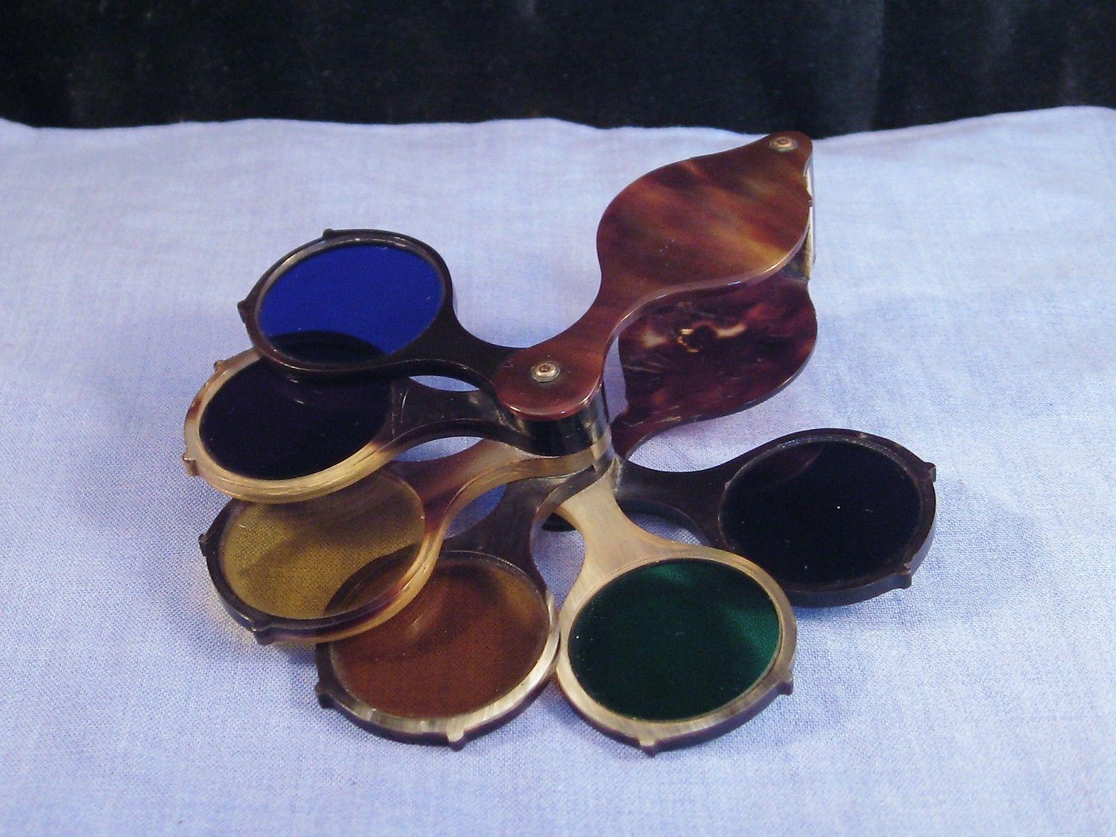VICTORIAN ARTISTS CLAUDE LORRAIN POCKET GLASS FILTERS LOUPE - Artist creates art power sunlight magnifying glass