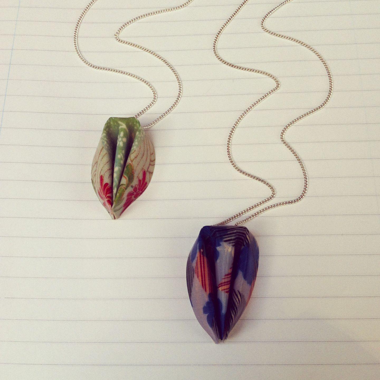 Marlene Beyer Resin Origami Necklaces Origami Pinterest