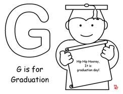g is for graduation coloring page for graduation theme from making learning - Graduation Coloring Pages