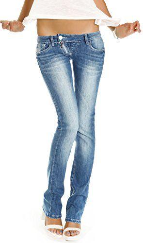 254918a638a3 Bestyledberlin Damen Jeans Hosen, Low Rise Hüftjeans, Slim Fit Damen  Bootcut, Jeanshosen j99a 40 L ...