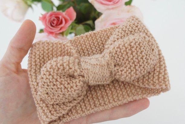 a3facbc9 Et lille strikket pandebånd – opskrift… (kvalitid) | детское ...