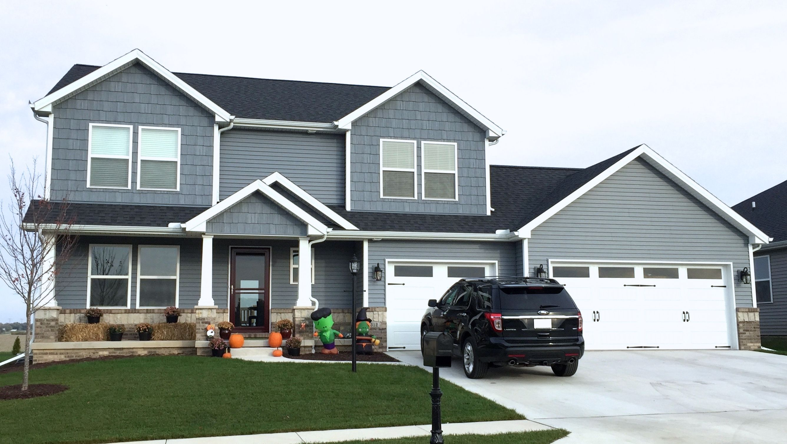 Pin By Chris On Siding Painted White Brick House House