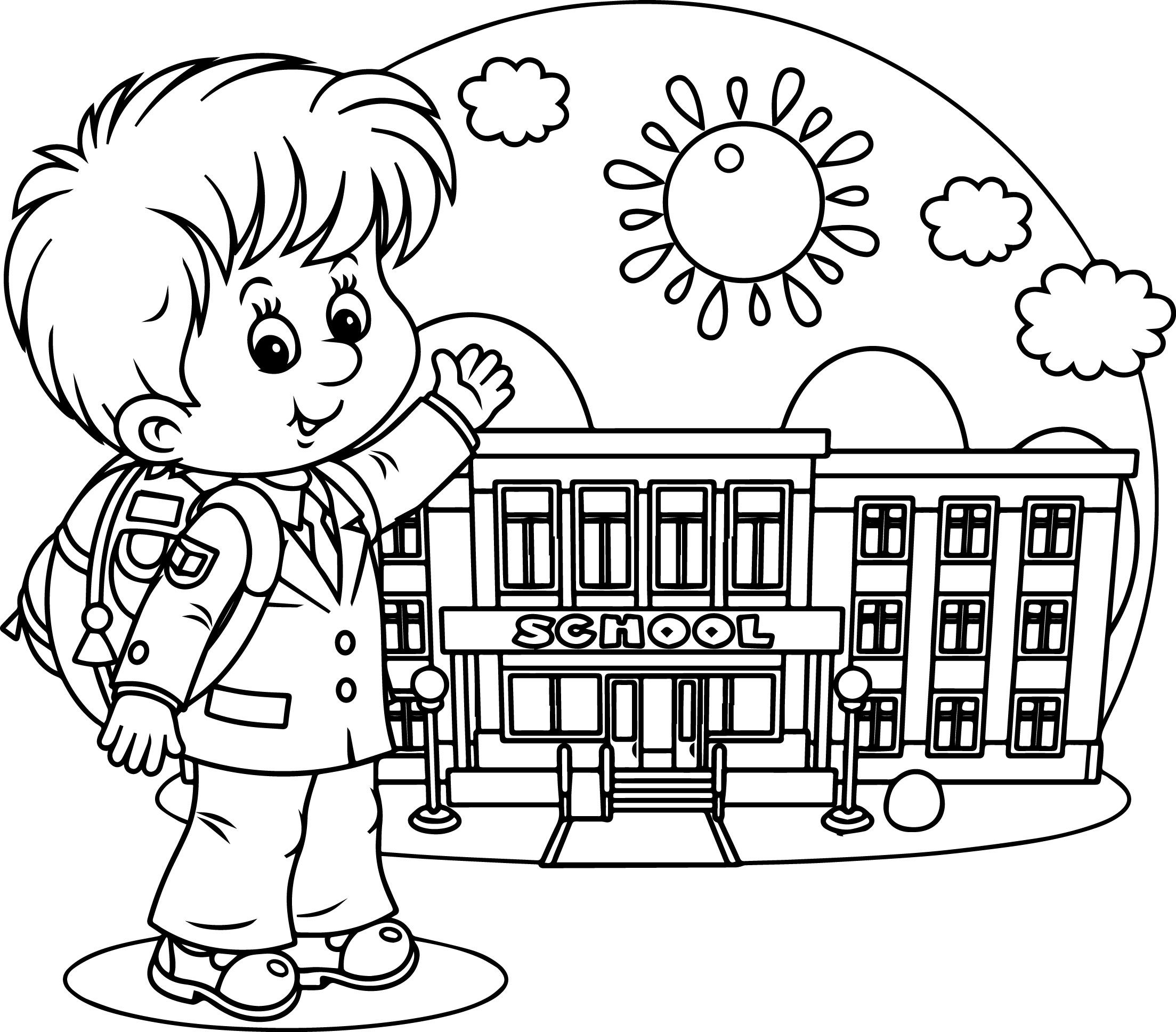 School Days Coloring Pages