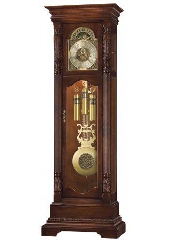 611 190 Elgin Howard Miller Grandfather Clock Hampton Cherry Finish Dekorasi Dekorasi Rumah