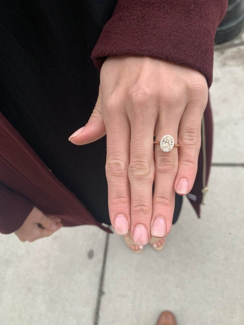 R3015 Plain Band Oval Halo Engagement Setting In 14k Rose Gold