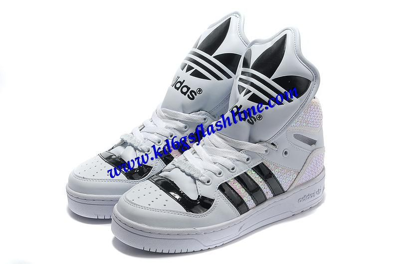 Buy Adidas X Jeremy Scott Big Tongue Shoes White For Sale