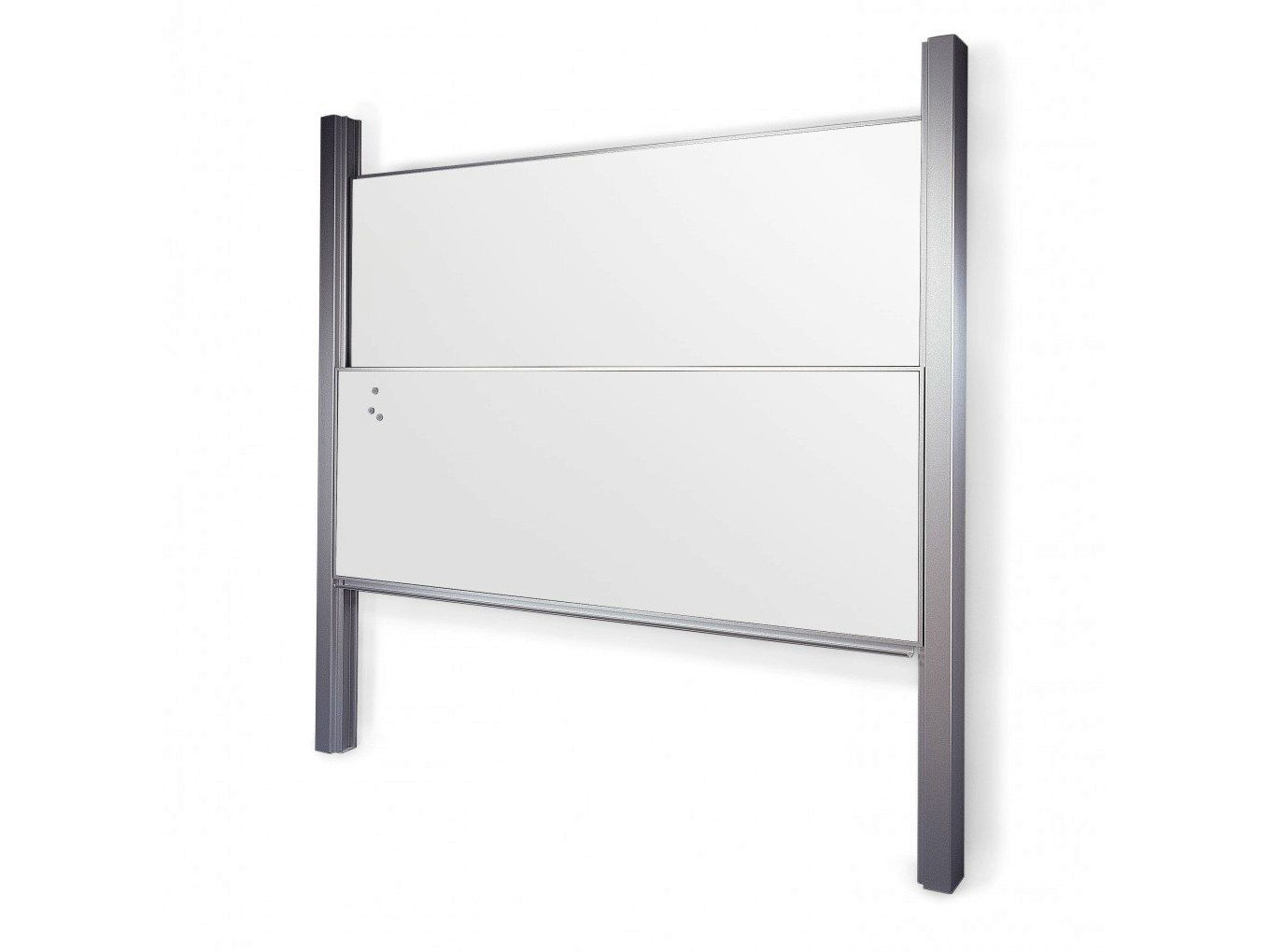 Vertically Sliding Whiteboard Put Over The 1 Way Mirrors