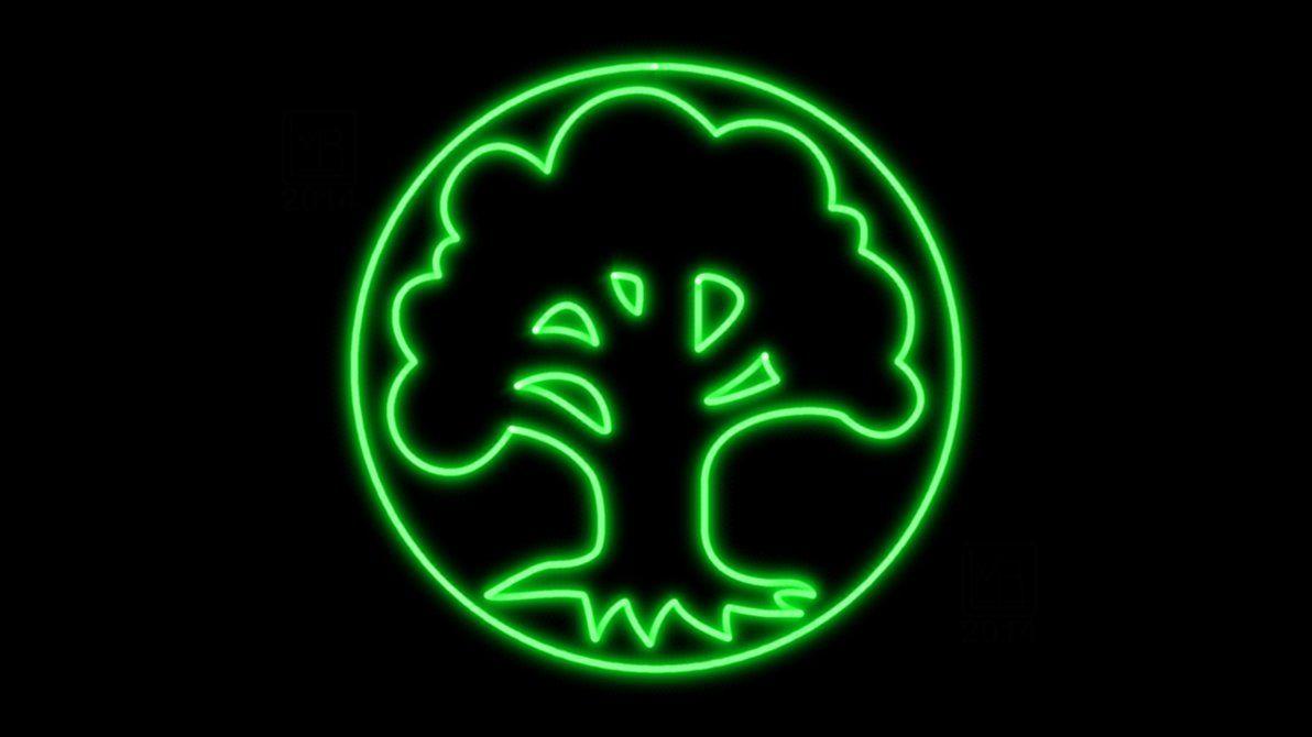 Magic The Gathering Green Mana Symbol Neon Wp By Morganrlewis
