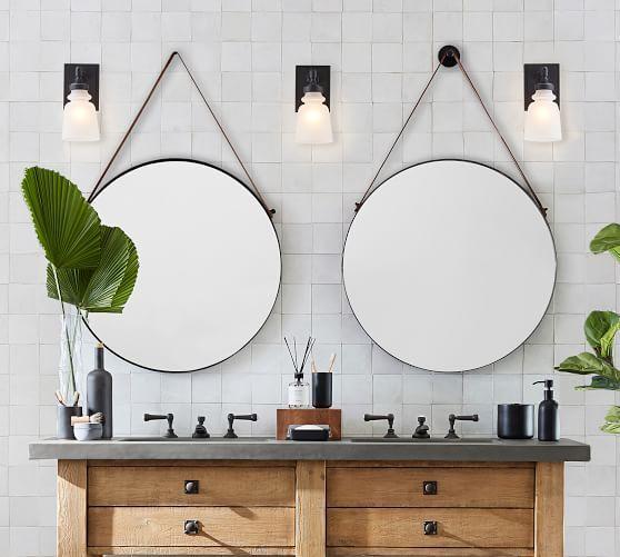Sayer Round Hanging Mirror In 2021 Round Mirror Bathroom Round Hanging Mirror Bathroom Design