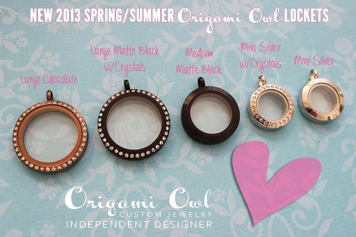 Our Origami Owl Lockets Come In 3 Different Sizes And 5 Different Metals Gold Silver Rose Gold C Origami Owl Custom Jewelry Origami Owl Origami Owl Jewelry