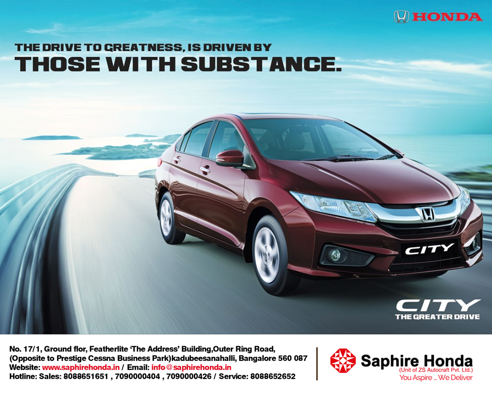 honda city - the great drive. visit us today for great offers