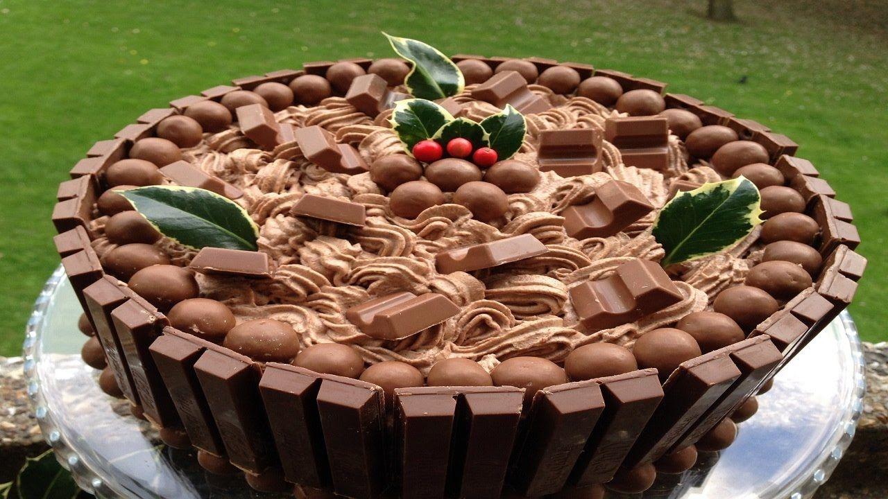 طريقة تحضير كيك الكتكات والمالتيزرز Kitkat And Maltesers Cake Cake Malteser Cake Food