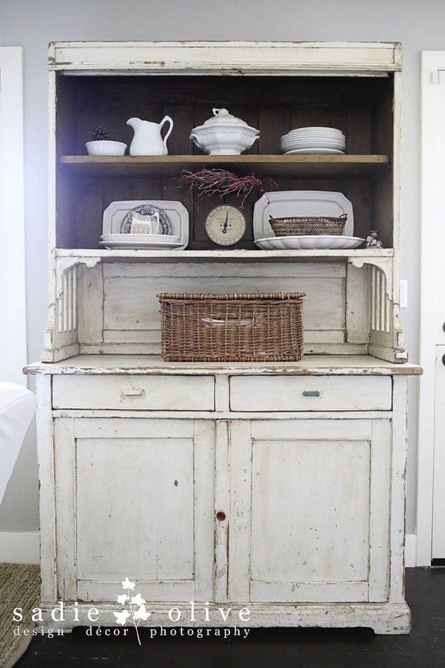 I love this white hutch | lantliv | Pinterest | Alacena, Rusticas y ...
