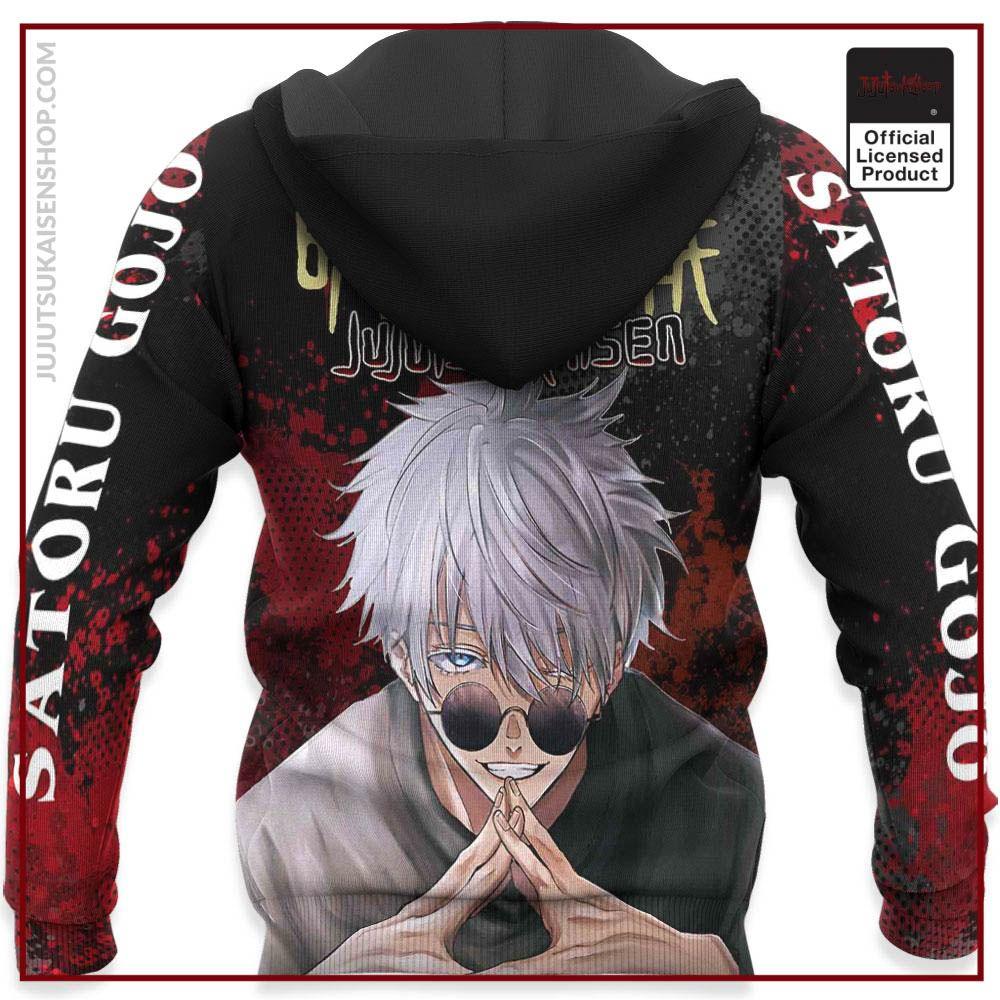 Hot Sale Jujutsu Kaisen Merch Satoru Gojo Hoodie Shirt Jacket In 2021 Hoodie Shirt Shirt Jacket Hoodies
