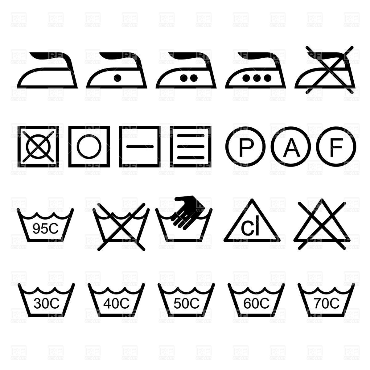 Laundry Icons Royalty Free Clip Art