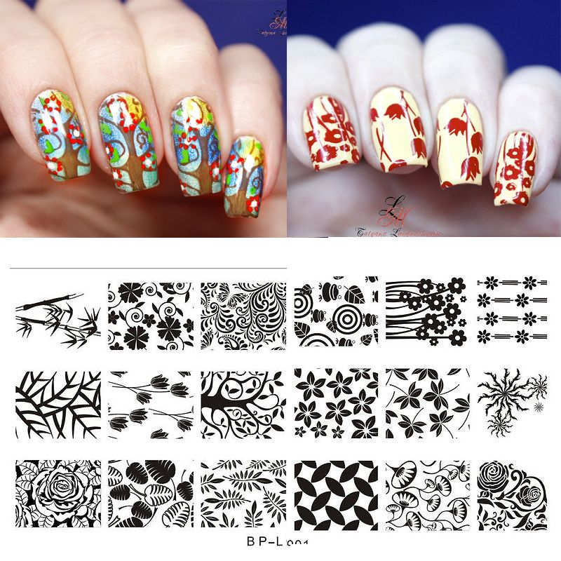 $2.59 (Buy here: http://appdeal.ru/6tu1 ) BORN PRETTY Flowers & Leaves Nail Art Stamp Template Image Plate BP-L001 Nail Stamping Template Plat for just $2.59