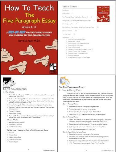 004 How To Teach The Five Paragraph Essay? CBW Writing