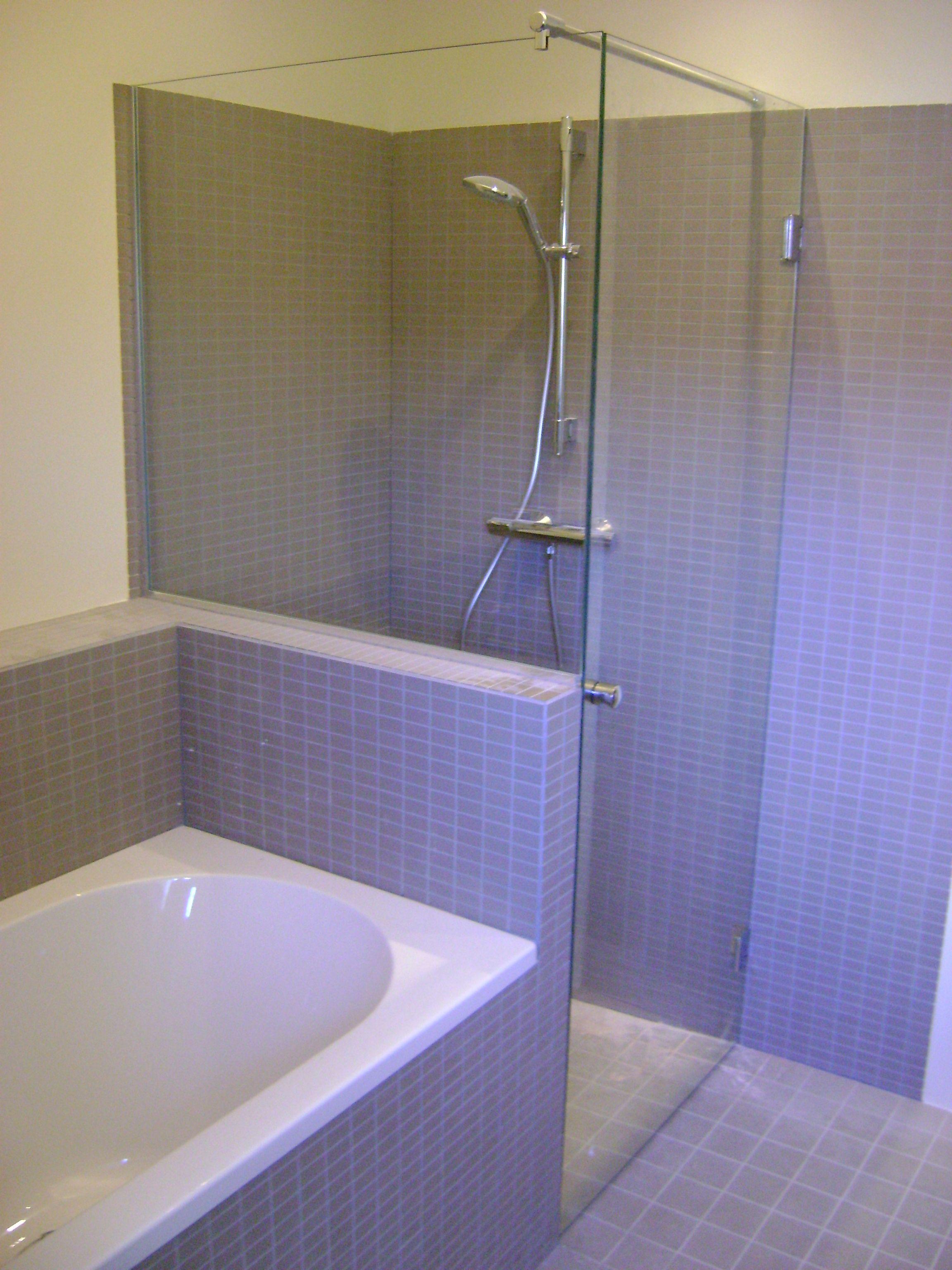glazen spatwand op maat amsterdam badkamer pinterest