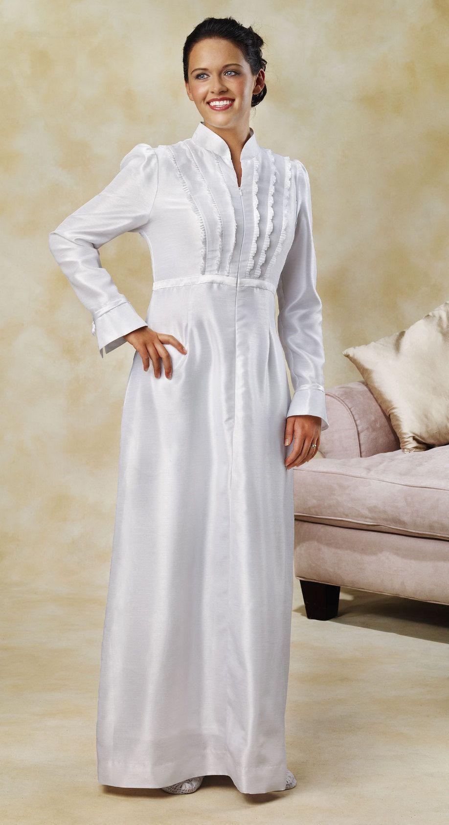White Lds Temple Dresses - Jill Dress